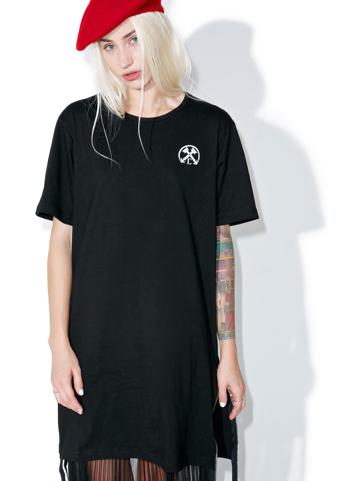 Civil Clothing Extended Zip Long Tee