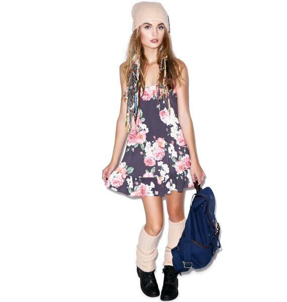 Wildfox Couture Austen Rose Ruffle Corset Slip