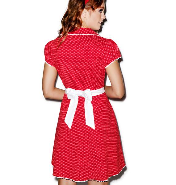 Sourpuss Clothing Puppy Love Rizzo Dress
