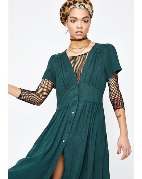 Flowin' Fury Midi Dress