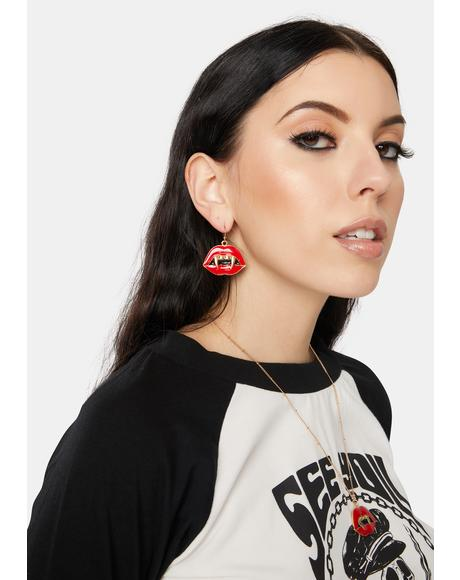 A Bit Of Bite Drop Earrings