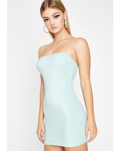 Aqua Champagne Poppin' Mini Dress
