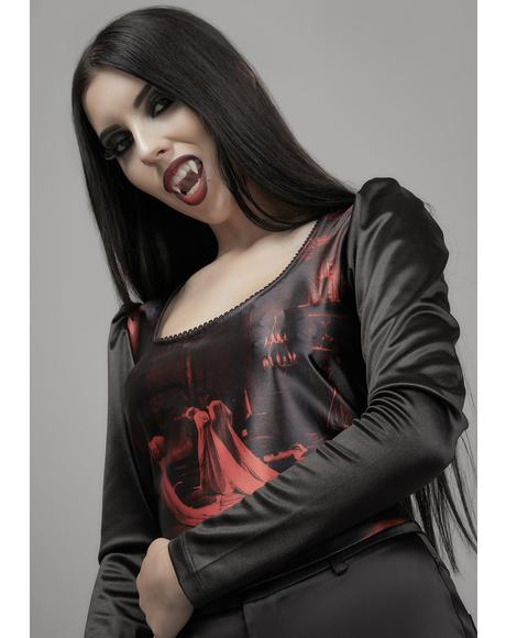 Devil In Disguise Satin Crop Top