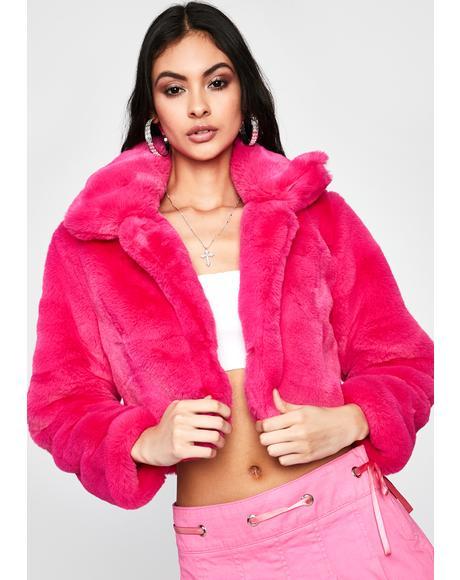 Sweet Pure Euphoria Faux Fur Jacket