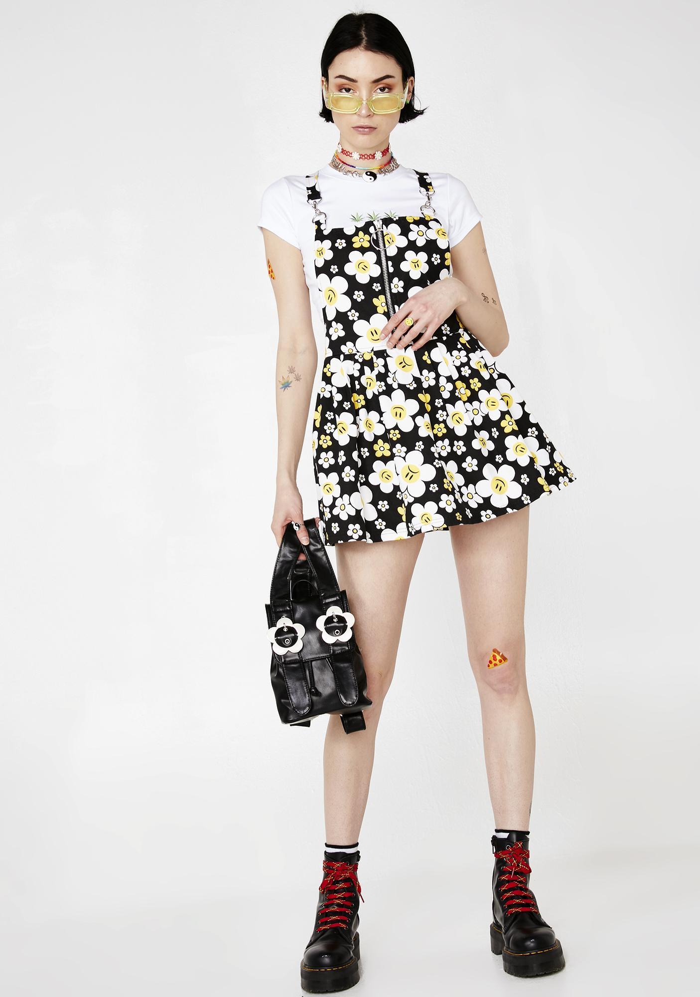 Current Mood Hazy Daisy Overall Dress