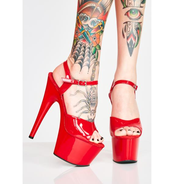 Pleaser Scarlett Kat Stacks Adore Platform Heels