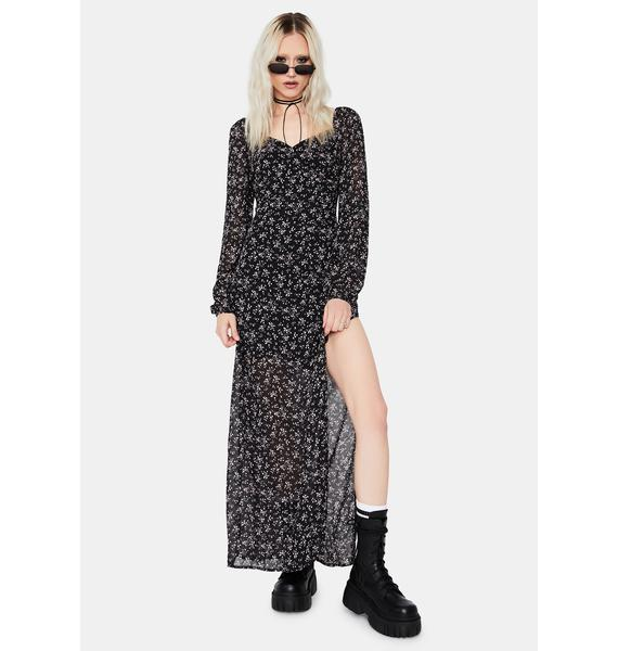 Misplaced Energy Floral Maxi Dress