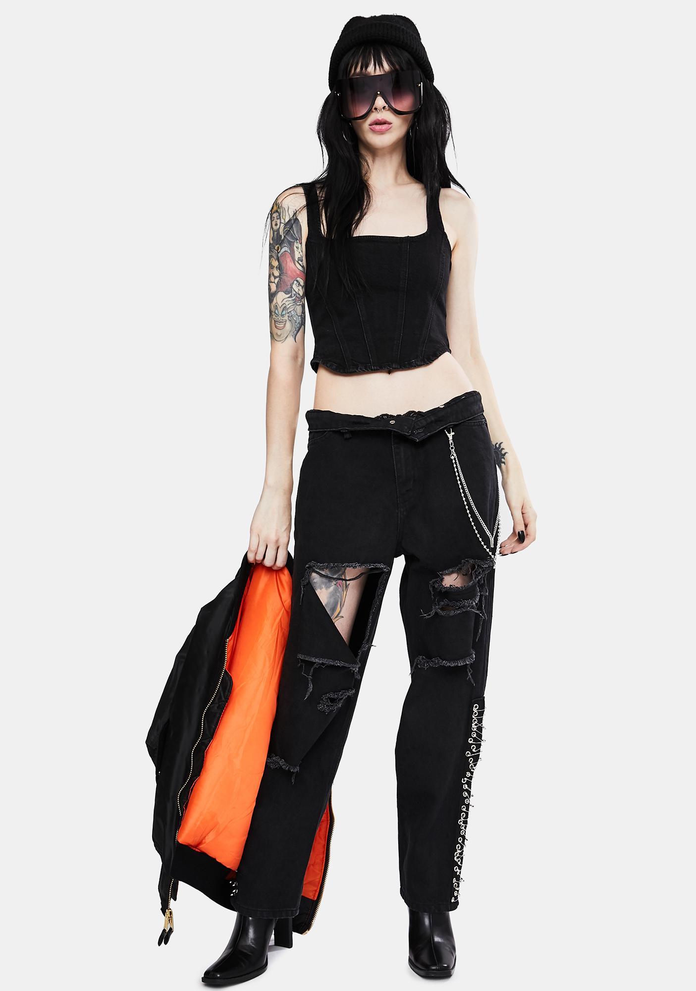 Kiki Riki Grunge It Up Distressed Jeans