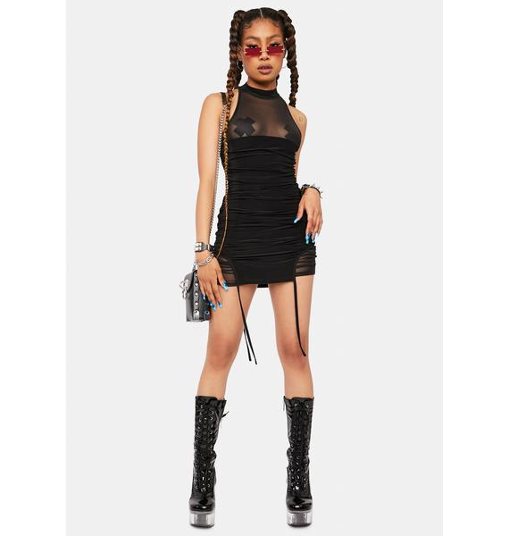 Rated R Mesh Bodycon Dress