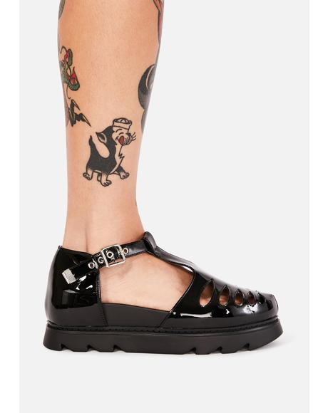 Dark Sweet Elite Platform Sandals