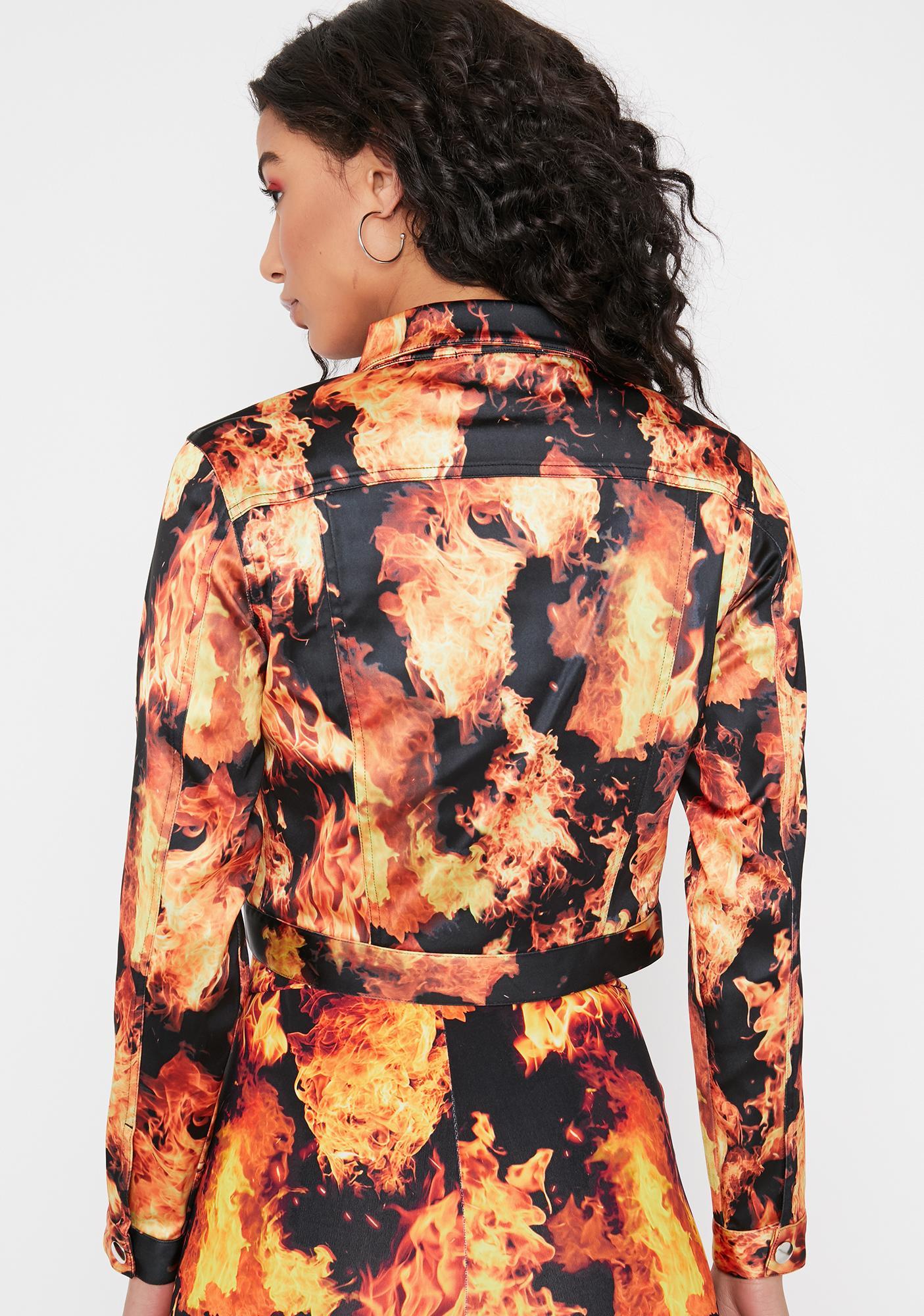 HOROSCOPEZ Feel The Burn Cropped Jacket