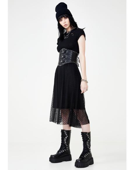 Broken Heart Midi Skirt