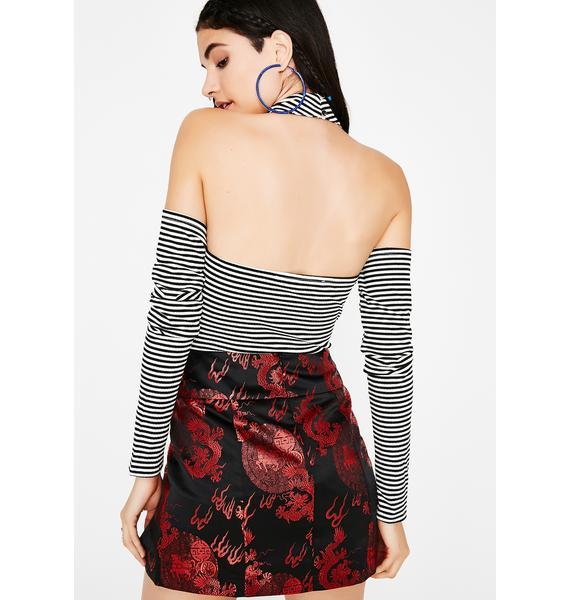 Girls Night Striped Bodysuit