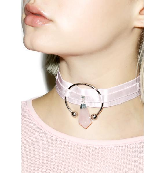 Teale Coco Dusted Pink Triple Goddess Choker