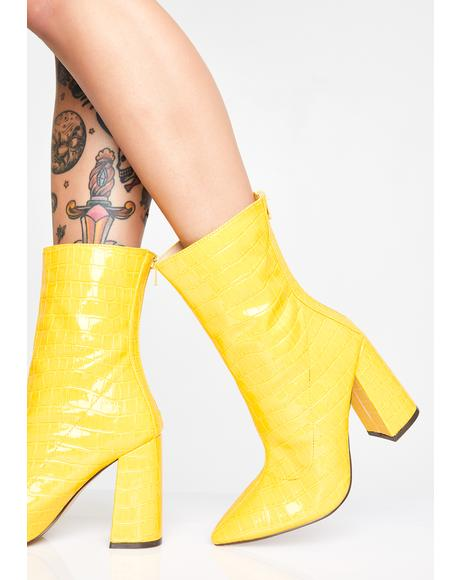 Dangerous Love Croc Booties