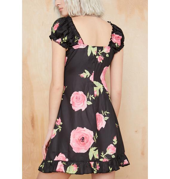 Current Mood Midnight Oasis Mini Dress