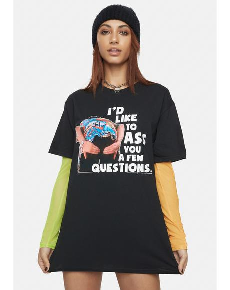 Ace Ventura Questions Graphic Tee