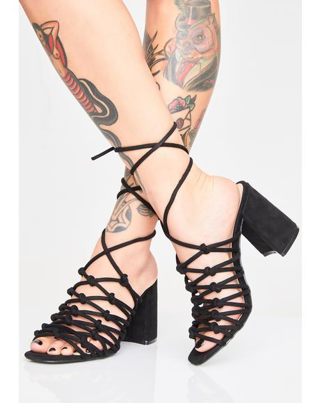 Bianca Lace Up Heels