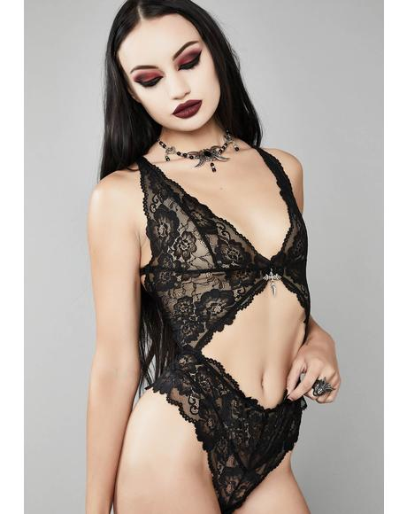 Dagger To The Heart Lace Bodysuit