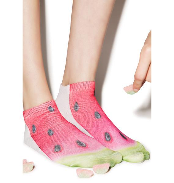 I Be Drinkin' Watermelon Ankle Socks