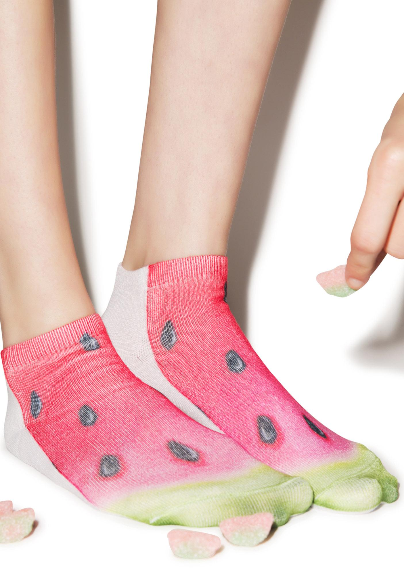 I Be Drinkin' Watermelon Ankle Socks