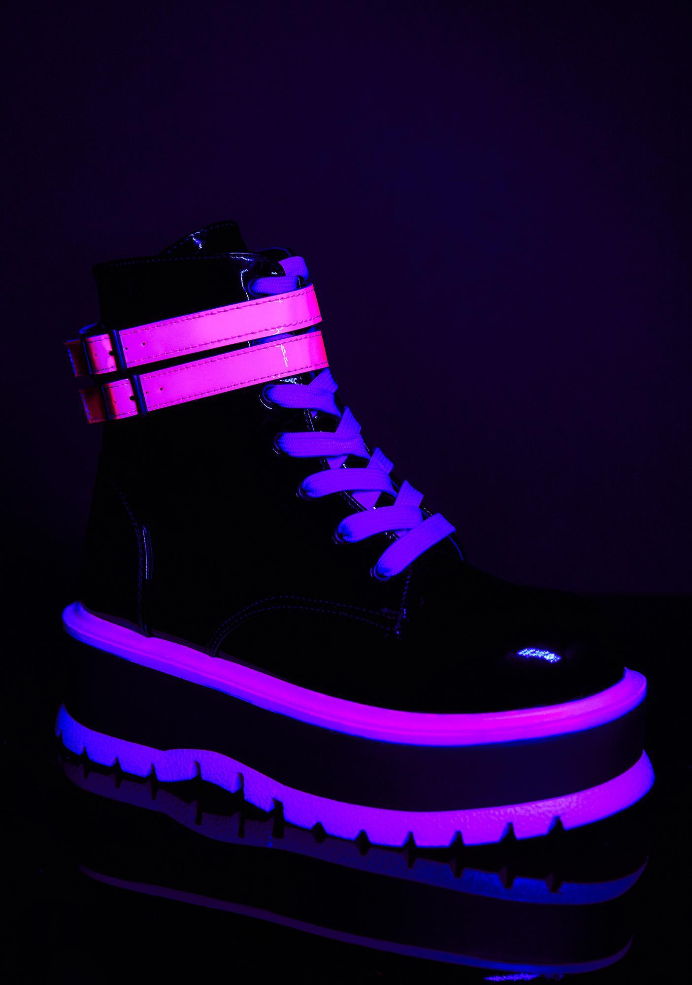 Demonia Sweet Chemical Fuse UV Platform Boots