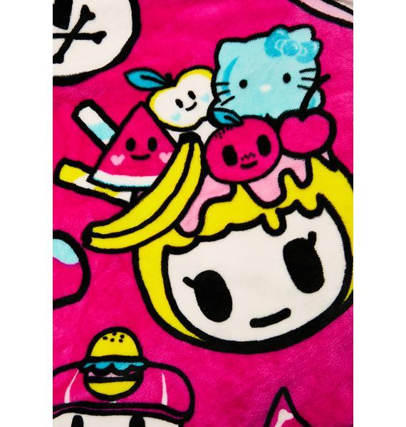 Sanrio Tokidoki X Hello Kitty Micro Polar Fleece Blanket