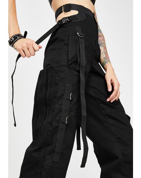 Black Bumster Pants