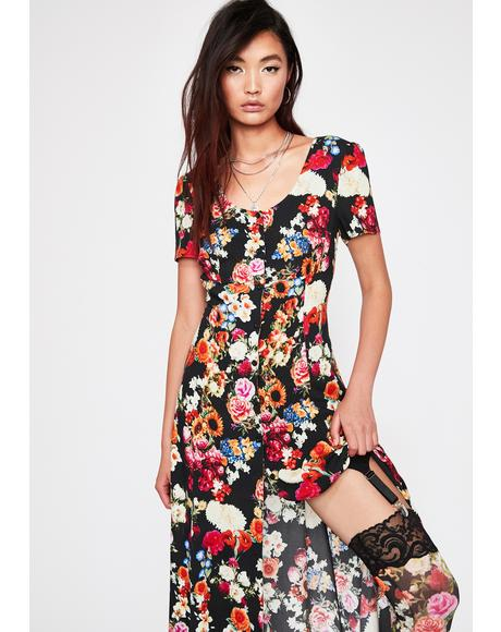 Wildflower About You Midi Dress