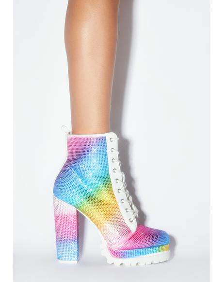Prism Glitz Rhinestone Booties