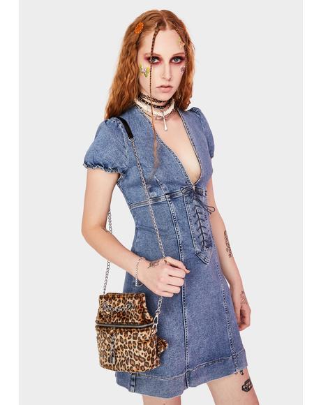 Something Sweet Denim Mini Dress