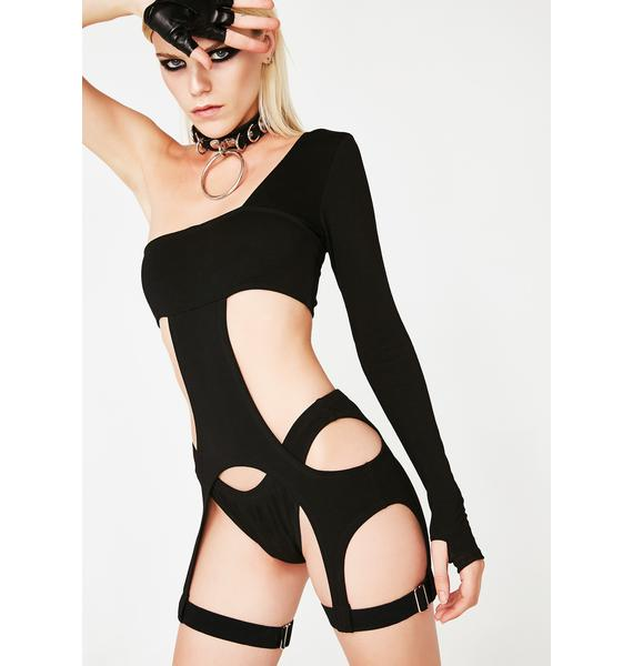 Club Exx Obscura Inferno Cut-Out Bodysuit