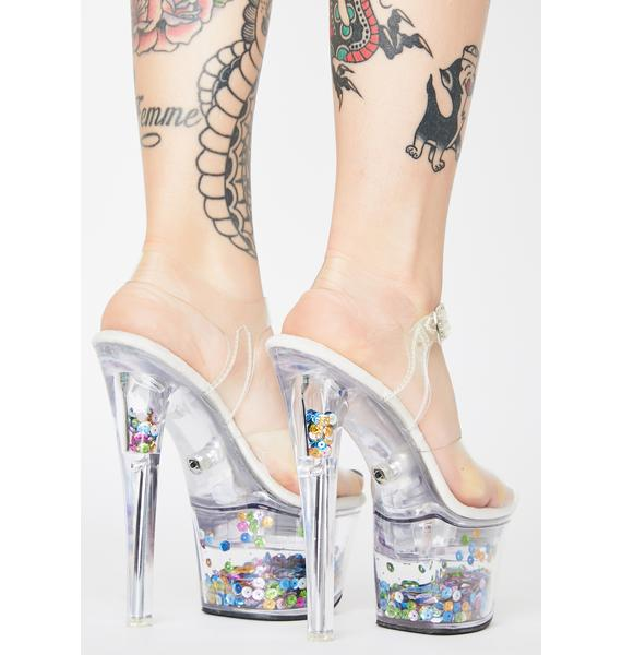 Pleaser Icy Friends With Benefits Light Up Heels