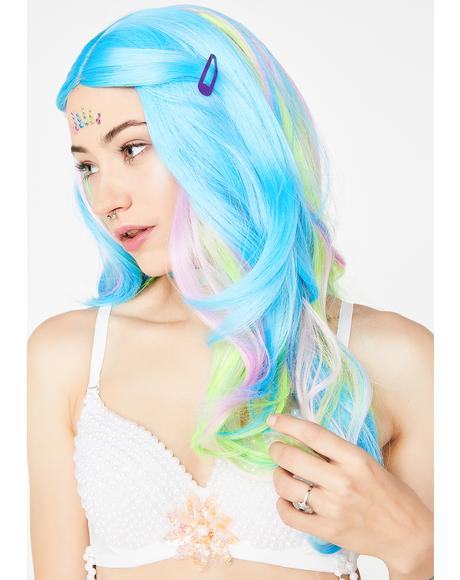 Pure Deep Sea Mermaid Multicolor Wig