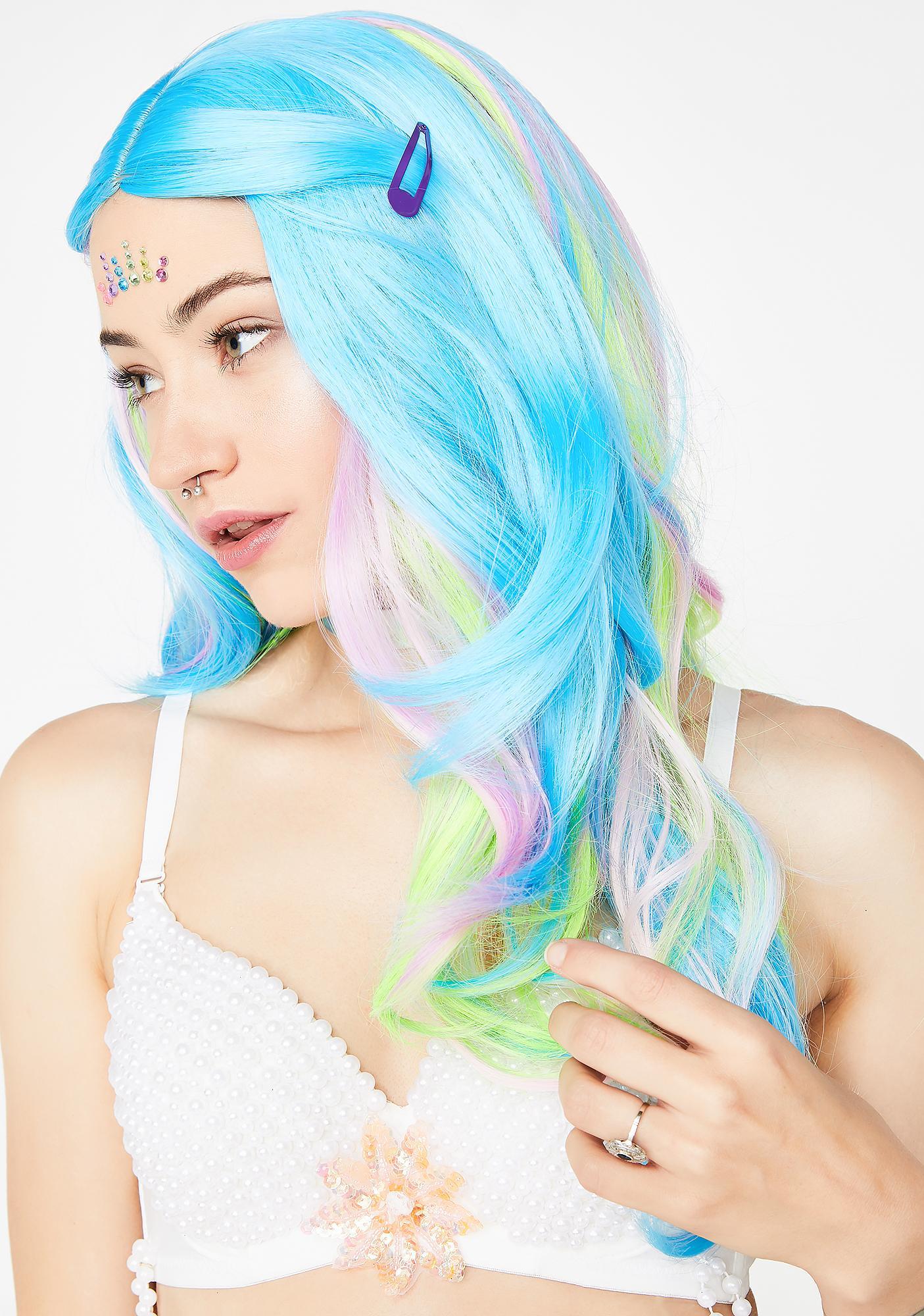 Pure Deep Sea Mermaid Multicolor Wig