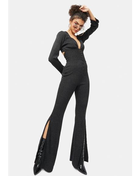 Classy Behavior Long Flare Jumpsuit