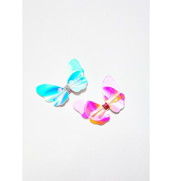 Butterfly Sugar Baby Hair Clips