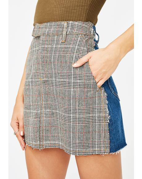 Study Hall Two Tone Skirt