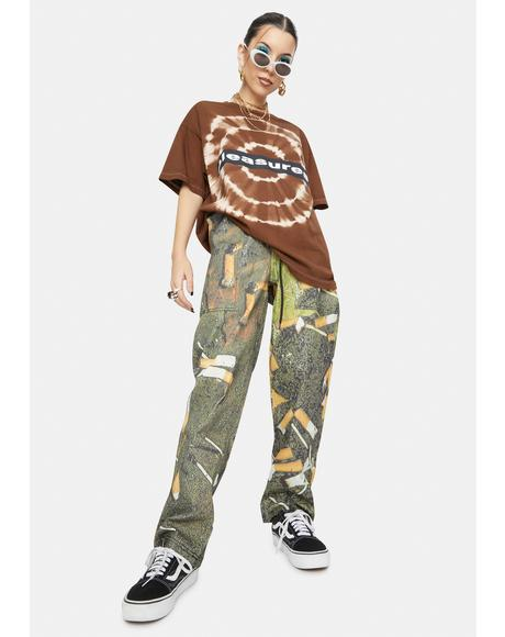 Litter Printed Beach Pants