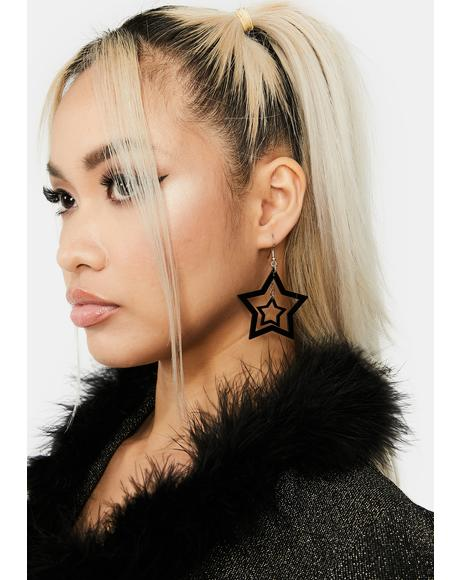 Only Star Drop Earrings