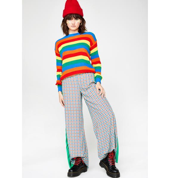 Daisy Street Rainbow Stripe Jumper
