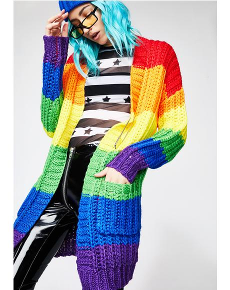 Rainbow Luv Cardigan