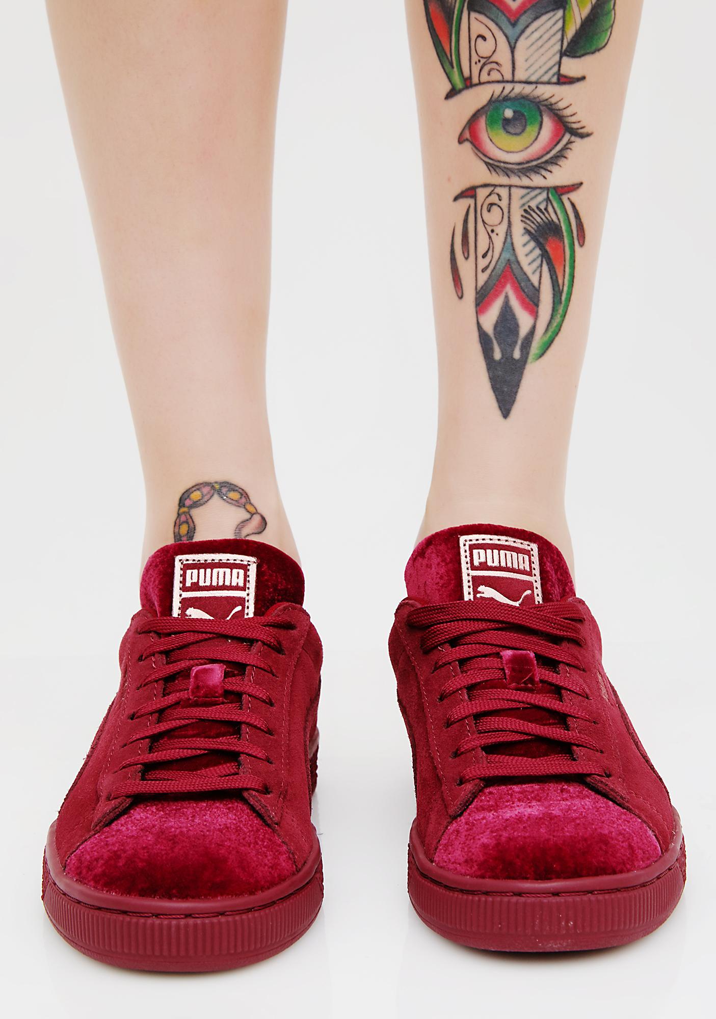 7d04db18e256 ... PUMA Suede Classic Velvet Sneakers ...