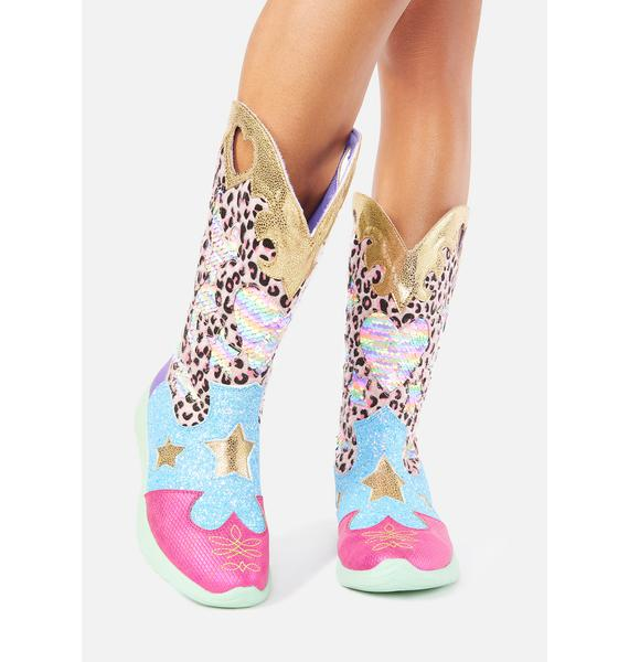 Irregular Choice Croydon Cowboy Boots