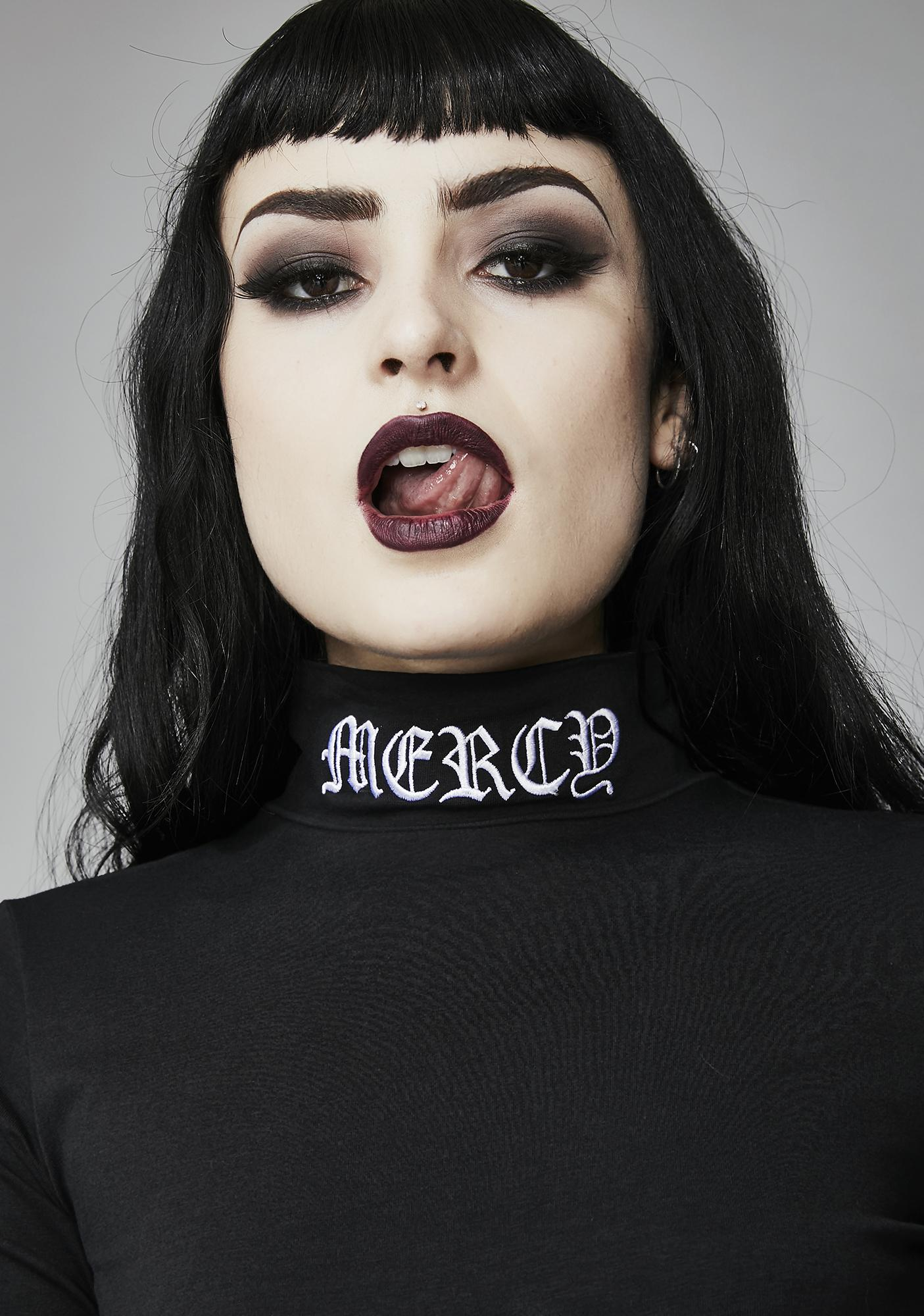 Widow Lord Have Mercy Mock Neck Top