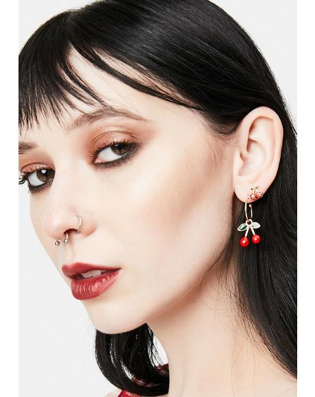 Cherry Picker Earring Set