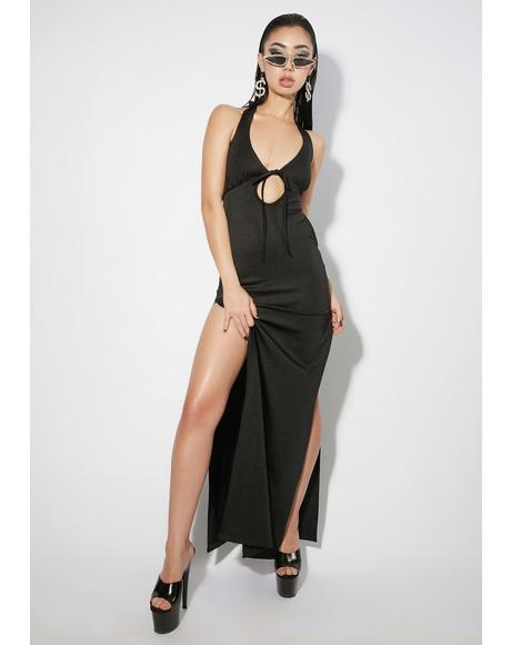 Noir Ask Me Out Maxi Dress