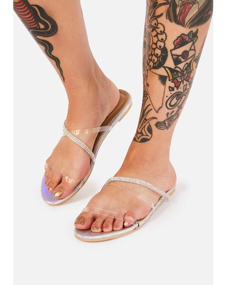 Sterling Anything I Want Rhinestone Sandals
