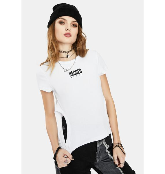 The Ragged Priest Clout Cutout Crop Tee