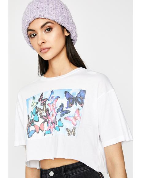 Blissful Butterflies Graphic Tee